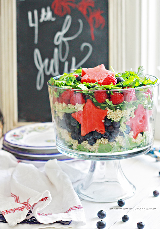 Red White and Blue Patriotic Salad for 4th of July or Memorial Day