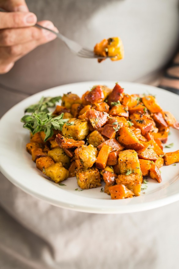 sweet potatoes and tempeh recipe vegan Thanksgiving