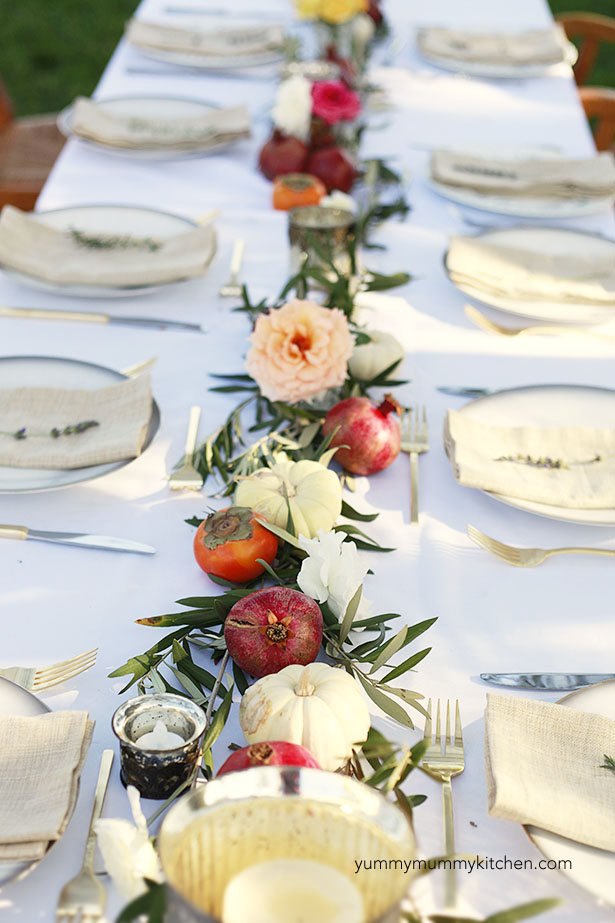 Thanksgiving tablecape idea