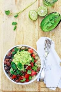 vegan quinoa burrito bowls