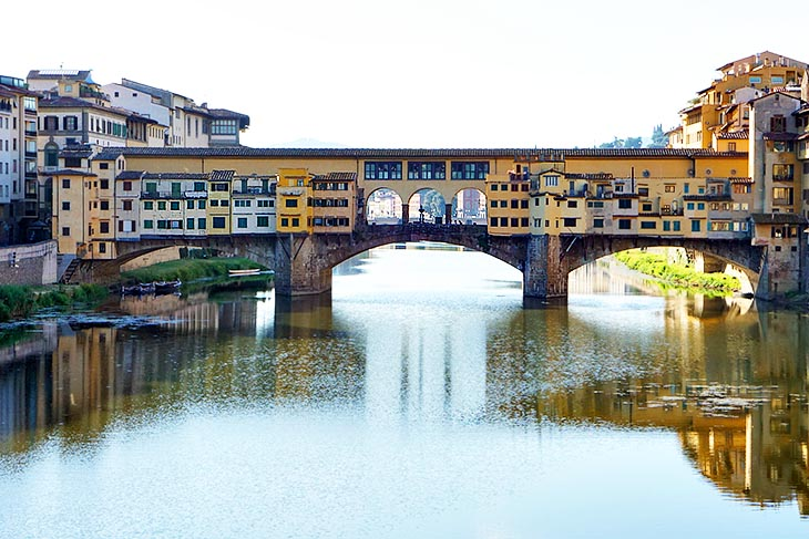 The Ponte Vecchio in Florence Italy