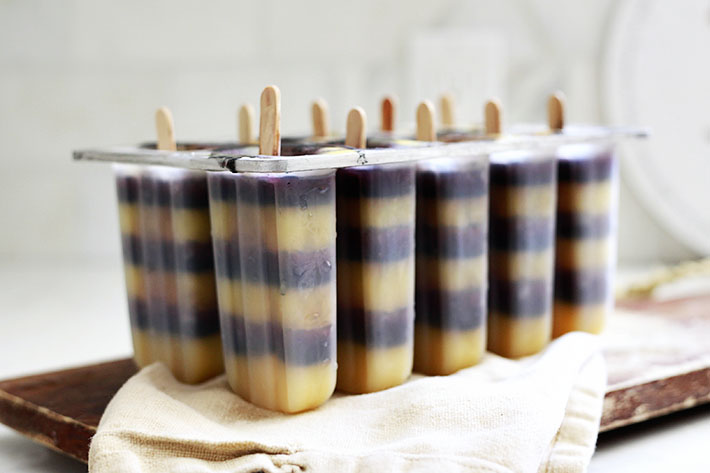 natural halloween popsicles