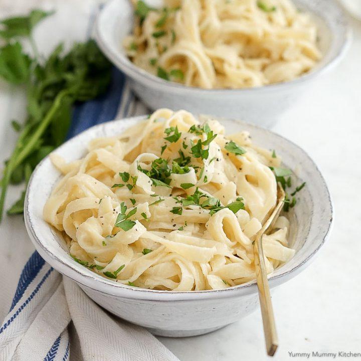 Cauliflower Vegan Fettuccini Alfredo