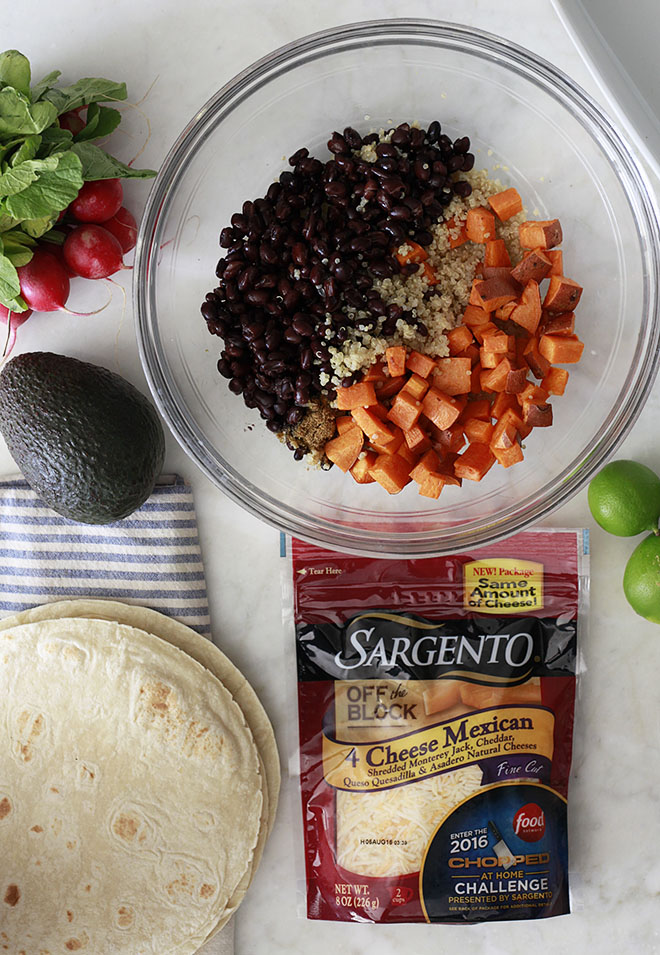 Quinoa, Black Bean and Sweet Potato Enchiladas Ingredients