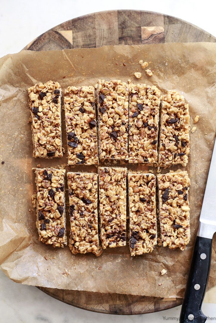 Homemade No-Bake Granola Bars made with pre-made granola are an easy and delicious treat.