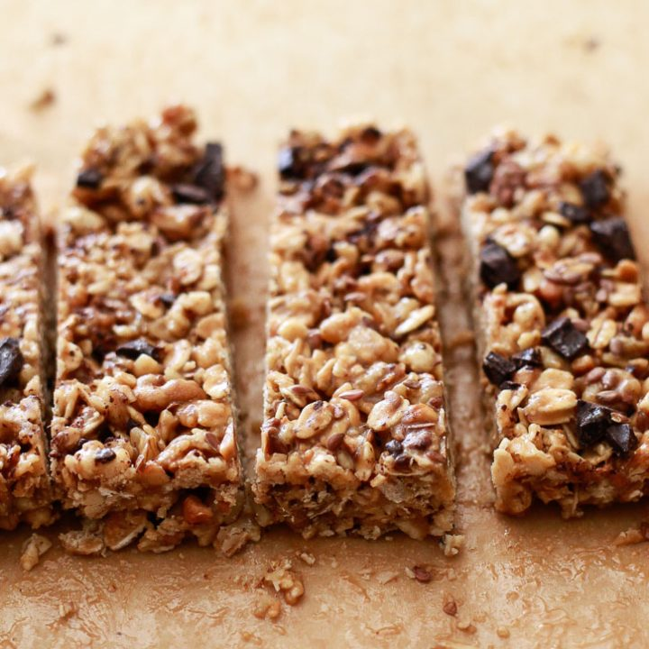 Easy Crunchy No-Bake Peanut Butter Granola Bars
