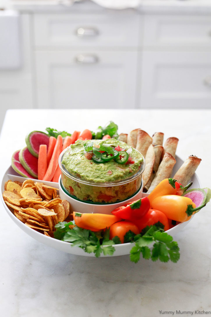 Skip the chopping with this easy guacamole recipe. Homemade or store-bought salsa is an easy way to add flavor to this quick homemade guacamole.