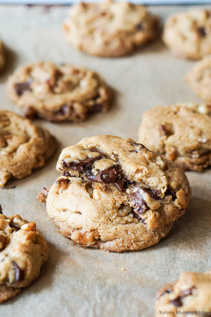 Best vegan chocolate chip cookies recipe ever! These easy vegan chocolate chip cookies are soft and chewy and easy to make gluten free.
