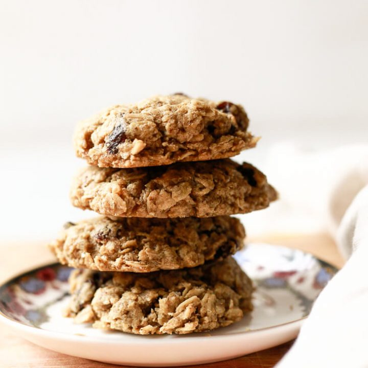 Oatmeal Raisin Cookies (Vegan, Gluten-Free)
