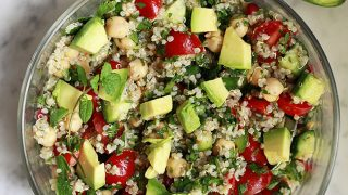 Tabouli (tabbouleh) with Quinoa and Chickpeas