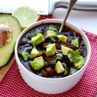 Instant Pot Black Bean Soup (Vegan)