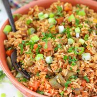 Teriyaki Instant Pot Rice - (stovetop instructions included)