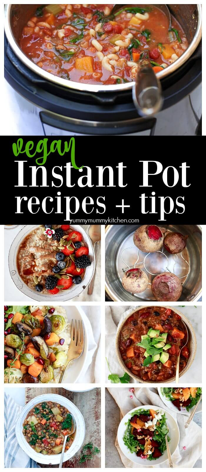 The best vegetarian, vegan, plant-based Instant Pot recipes! From healthy vegan Instant Pot dinners, to soups, chili, risotto, and chocolate cake, this is the ultimate list of vegan Instant Pot recipes.