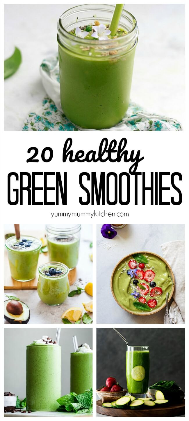 Best healthy vegan green smoothie recipes and how to make a green smoothie.