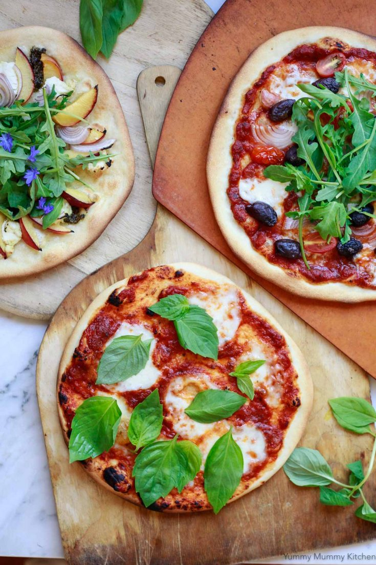 How to make the BEST homemade pizza dough. This classic Italian pizza dough recipe makes perfect thin crust New York style vegan pizza crust.