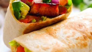 BBQ Tempeh Vegan Burrito