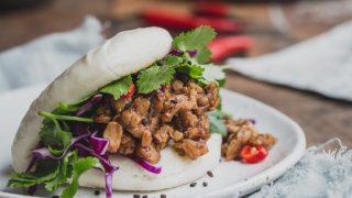 Vegan Bao Burgers with Peking Tempeh