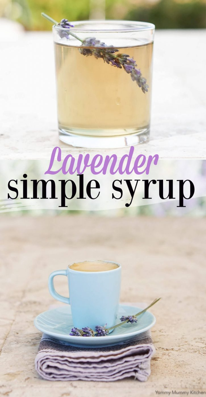 Lavender syrup recipe for lavender lattes, lemonade, and more.