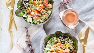 VEGAN FIESTA BUFFALO TOFU BOWLS WITH TAHINI LIME CREMA