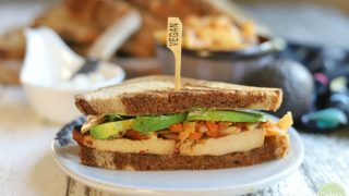 Bulgogi tofu sandwich with kimchi