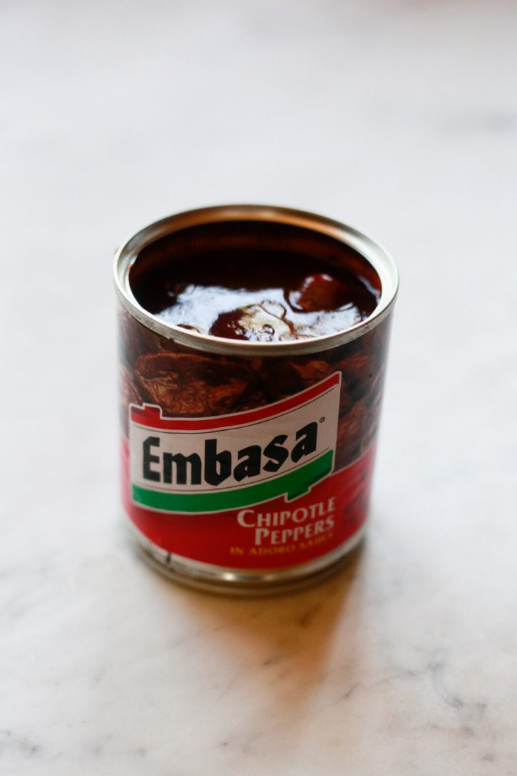 A can of Embasa chipotle peppers in adobo sauce.
