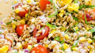 Charred Corn and Farro Salad