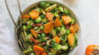 Brussels Sprout + Persimmon Salad