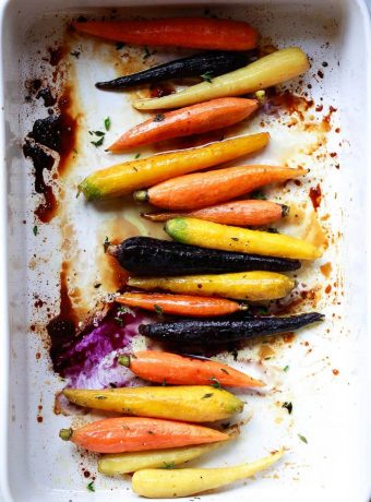 rainbow glazed carrots
