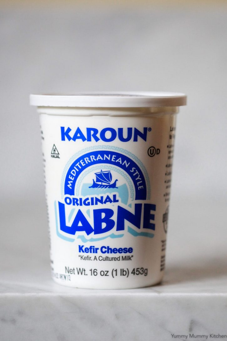 A tub of Karoun brand labne cheese from Whole Foods.