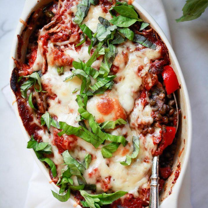 Italian Lentil Vegetarian Casserole