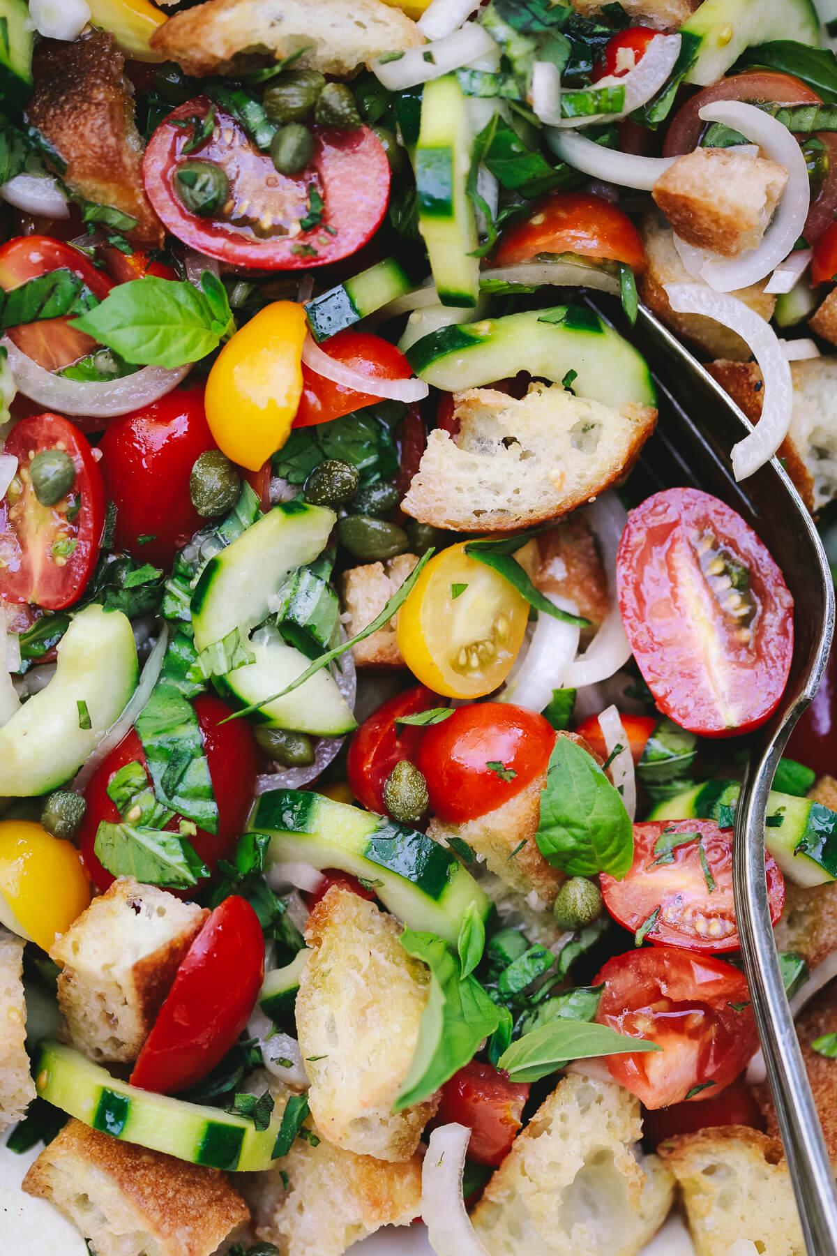 Panzanella Salad Italian Tomato Bread Salad Recipe