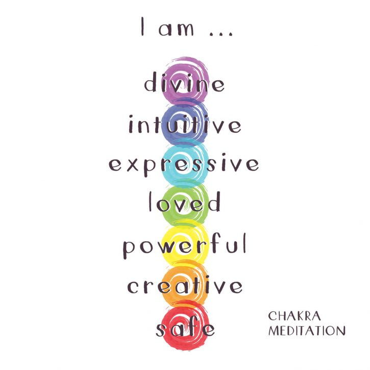 The 7 chakra colors and meditations.