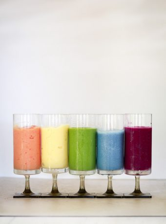 5 colorful healthy smoothie recipes.