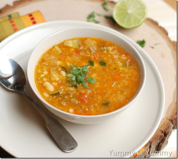 Quinoa and veggie soup