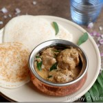 Onion pepper chicken curry with coconut milk