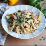 Chicken and Vegetable Pasta in a Creamy Pesto Sauce