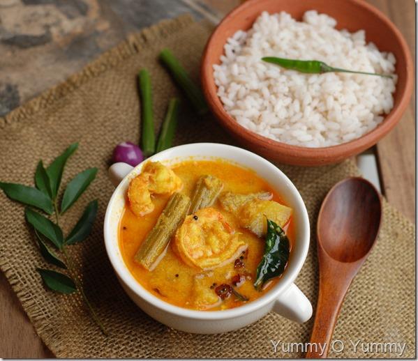 Chemmeen muringakka curry