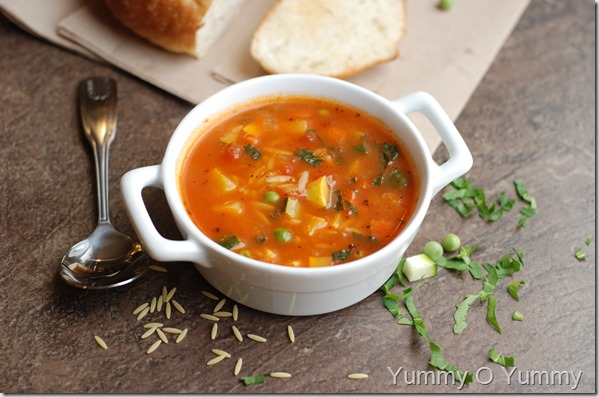 Quick Marinara Soup