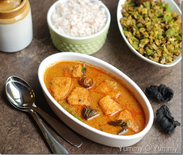 Fish curry in coconut sauce