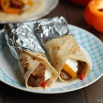 Sausage, Peppers and Onion Wrap
