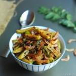 Kovakka Unakka Chemmeen Ularthiyathu / Ivy gourd and dried prawn stir-fry