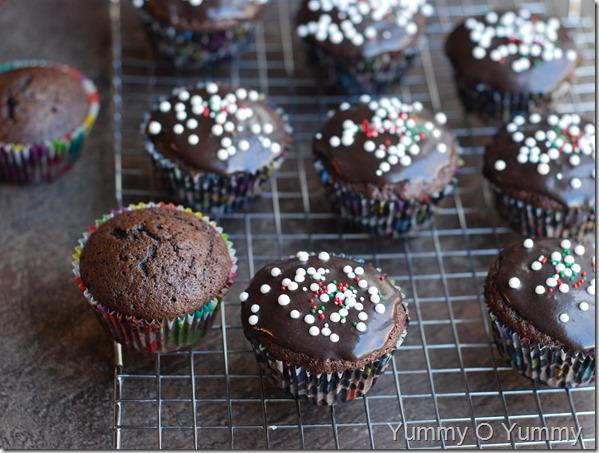 Zucchini chocolate cupcakes