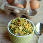 Mutta Thoran / Scrambled Eggs–Kerala Style