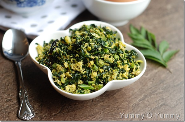 Kale and egg stirfry