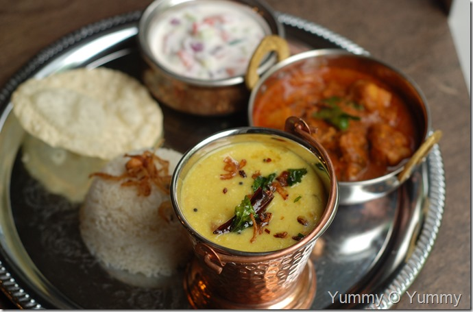 Malabar style lentil curry