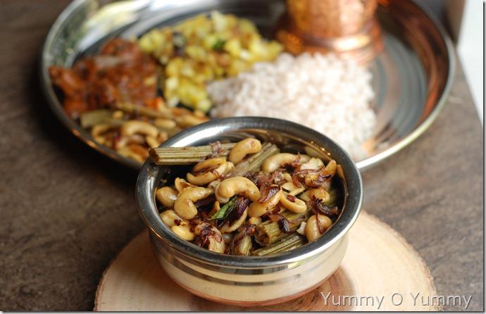 Drumstick and cashew ularthiyathu