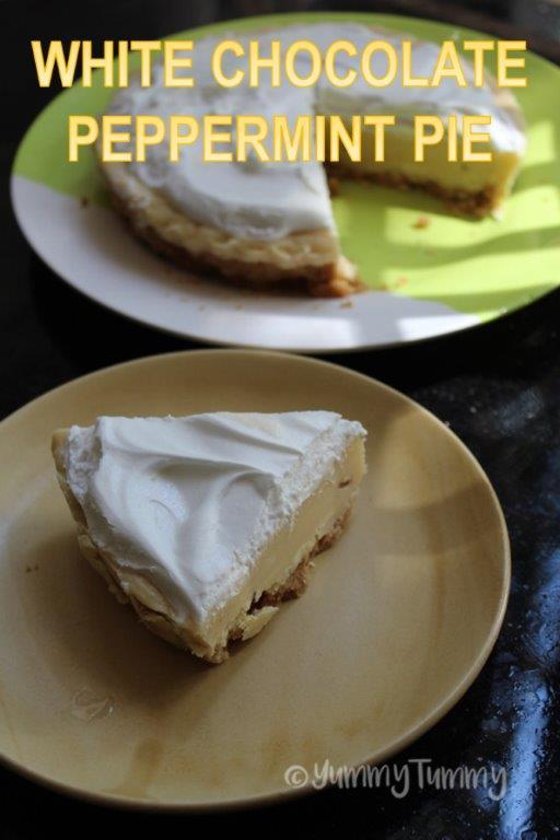 White Chocolate Peppermint Pie