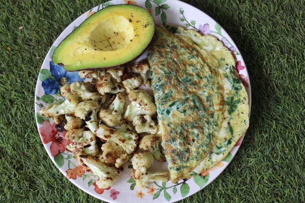 Keto Spinach Cheese Omelette Recipe