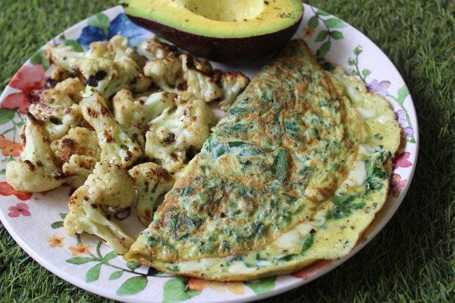 Keto Spinach Cheese Omelette