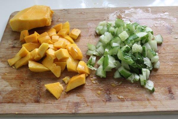 Mango Cucumber Salsa step 1